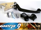 WARP 9 BRAKE LEVER  3 FINGER SHORT TYPE ADJUSTABLE - DR650